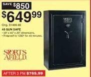 Dunhams Sports Black Friday: Sports Afield 48-Gun Safe for $649.99