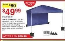 Dunhams Sports Black Friday: WFS 10x10 Straight Leg Kit for $49.99