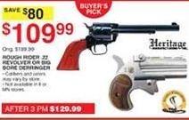 Dunhams Sports Black Friday: Heritage Rough Rider .22 Revolver or Big Bore Berringer for $109.99