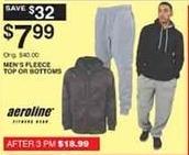 Dunhams Sports Black Friday: Aeroline Men's Fleece Top or Bottoms for $7.99