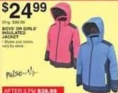Dunhams Sports Black Friday: Kids' Pulse Insulated Jacket for $24.99