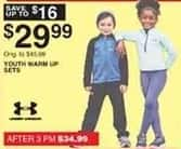 Dunhams Sports Black Friday: Under Armour Kids' Warm Up Sets for $29.99