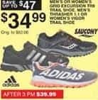 Dunhams Sports Black Friday: Adidas Men's Thrasher 1.1 Shoes or Saucony Men's or Women's Grid Excursion TR9 Trail Shoes for $34.99