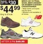 Dunhams Sports Black Friday: New Balance Men's or Women's MX608V Crosstrainer or Men's 481 V3 Trail Shoes for $44.99