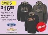Dunhams Sports Black Friday: Ford or Chevrolet Men's Fleece Hoodie for $16.99
