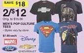 Dunhams Sports Black Friday: (2) Men's Pop Culture Tees for $12.00