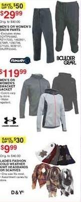 Dunhams Sports Black Friday: Men's or Women's Snow Pants for $29.99