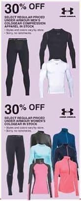 Dunhams Sports Black Friday: Under Armor Men's Coldgear Compression Apparel - 30% Off