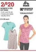 Dunhams Sports Black Friday: (2) Rbx or Yogalicious Women's Tee or Tank for $20.00