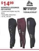 Dunhams Sports Black Friday: RBX or Yogalicious Women's Leggings or Capris for $14.99