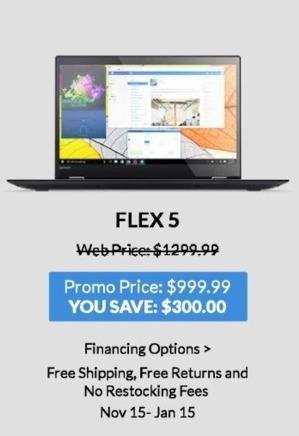 Lenovo Black Friday: Lenovo Flex 5 for $999.99