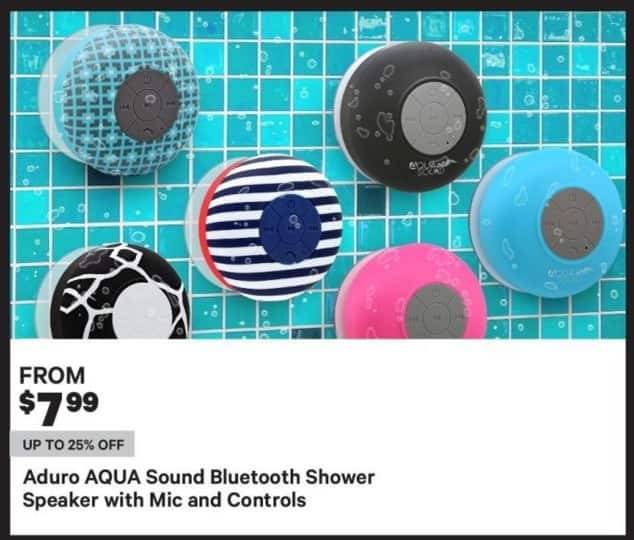 Groupon Black Friday: Aduro Aqua Sound Bluetooth Shower Speaker with Mic and Controls - From $7.99