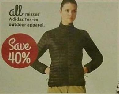 AAFES Black Friday: All Misses' Adidas Terrex Outdoor Apparel - 40% Off