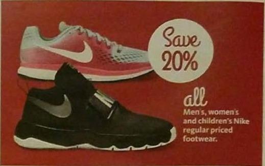 AAFES Black Friday: All Men's, Women's and Kids' Nike Footwear - 20% Off