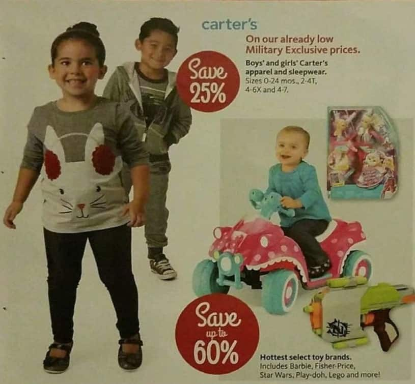 AAFES Black Friday: Kids' Carter's Apparel and Sleepwear - 25% Off
