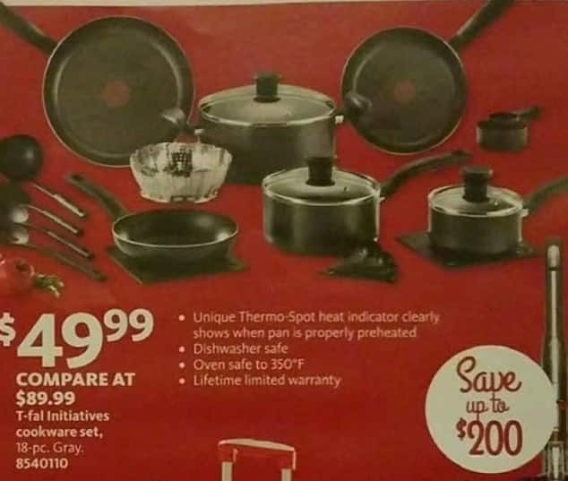 AAFES Black Friday: T-Fal Initiatives Cookware Set for $49.99