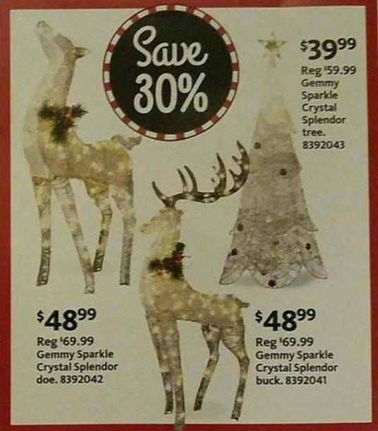 AAFES Black Friday: Gemmy Sparkle Crystal Splendor Buck for $48.99