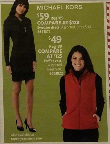 AAFES Black Friday: Michael Kors Sweater Dress for $59.00