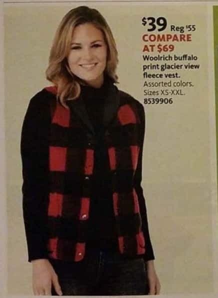 AAFES Black Friday: Woolrich Buffalo Print Glacier View Fleece Vest for $39.00