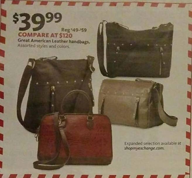AAFES Black Friday: Assorted Great American Leather Handbags for $39.99