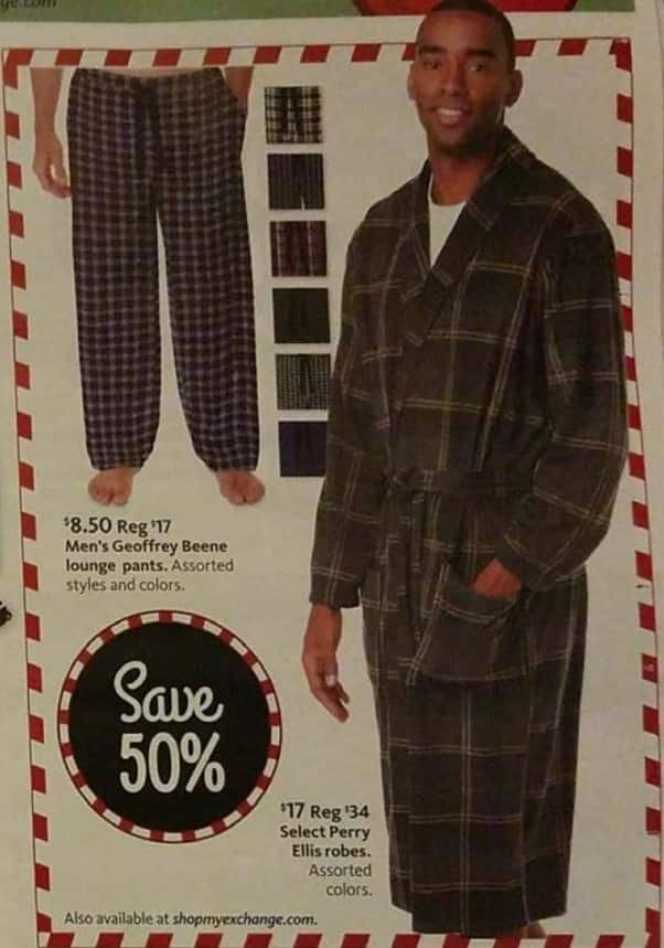 AAFES Black Friday: Men's Geoggrey Beene Lounge Pants for $8.50