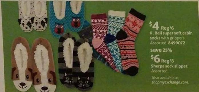 AAFES Black Friday: Sherpa Sock Slipper for $6.00