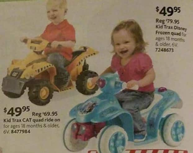 AAFES Black Friday: Kid Trax CAT Quad Ride-on for $49.95