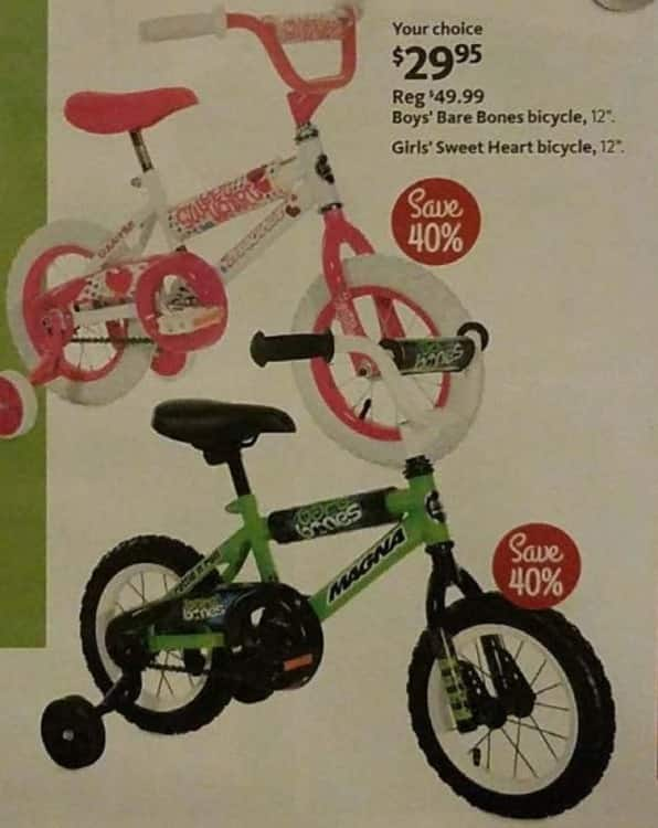 AAFES Black Friday: Boys' Bare Bones Bicycle or Girls' Sweet Heart Bicycle for $29.95