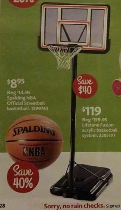 AAFES Black Friday: Lifetime Fusion Acrylic Basketball System for $119.00