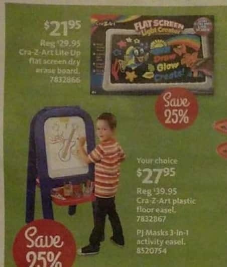 AAFES Black Friday: Cra-Z-Art Lite Up Flat Screen Dry Erase Board for $21.95