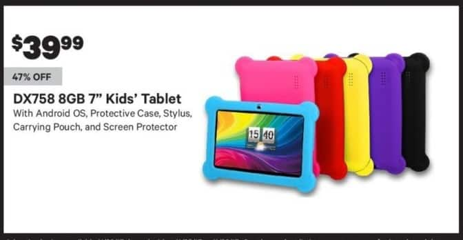 "Groupon Black Friday: 8GB DX758 7"" Kids' Tablet for $39.99"