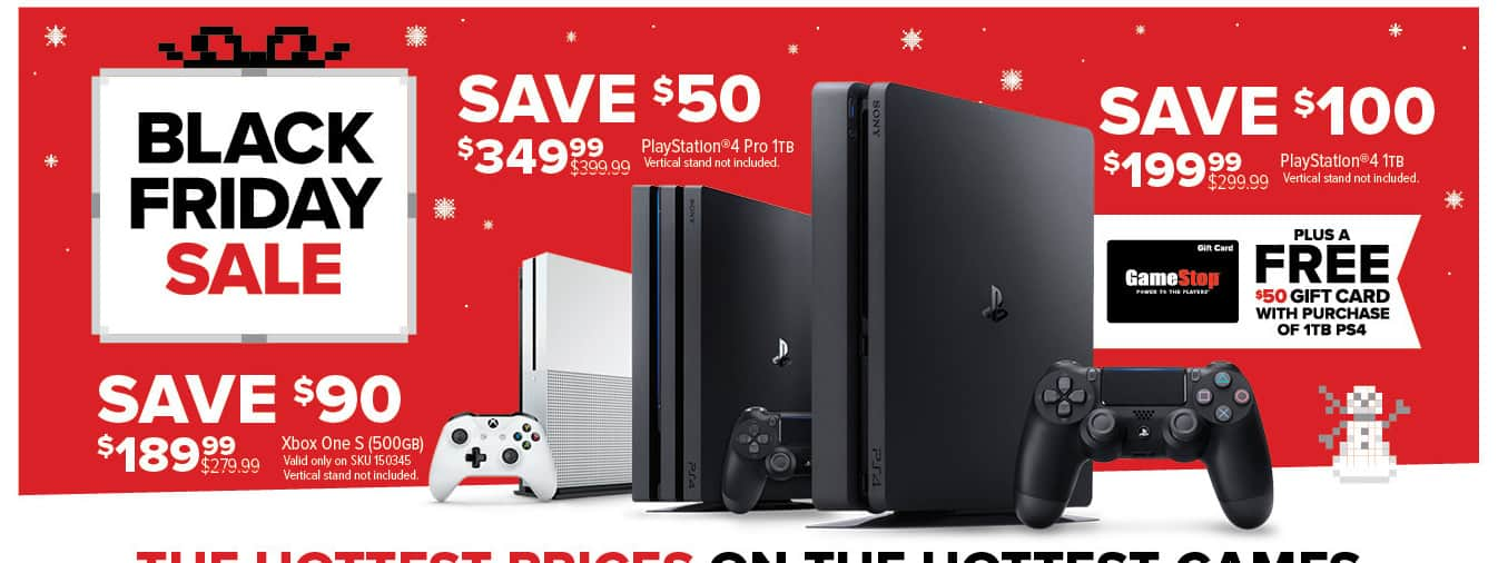 GameStop Black Friday: Playstation 4 1TB Console + $50 Gift Card for $199.99