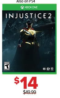 GameStop Black Friday: Injustice 2 for $14.00
