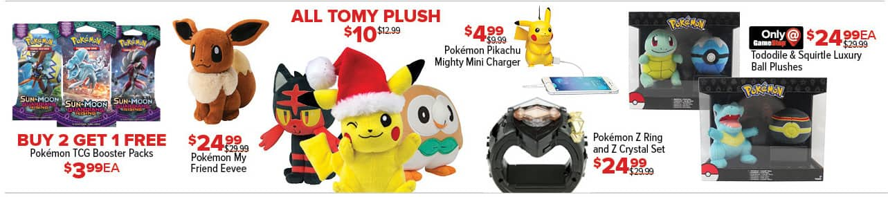 GameStop Black Friday: All Tomy Plush for $10.00