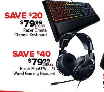 GameStop Black Friday: Razer ManO'War 7.1 Wired Gaming Headset for $79.99