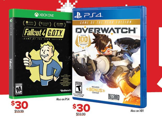 GameStop Black Friday: Fallout 4 GOTY (PS4/Xbox One) or Overwatch (PS4/Xbox One) for $30.00