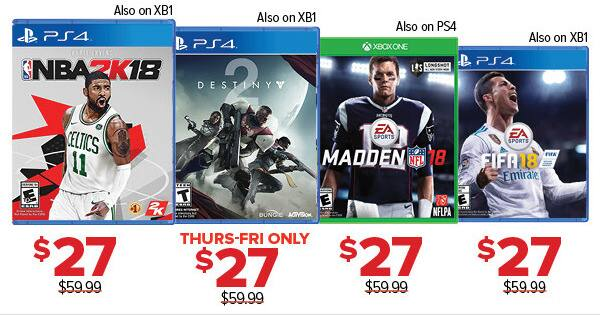 GameStop Black Friday: Fifa 18 (Xbox One/PS4) for $27.00