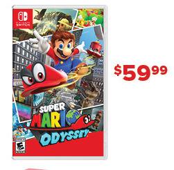 GameStop Black Friday: Super Mario Odyssey for $59.99