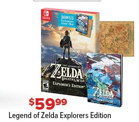 GameStop Black Friday: Legend of Zelda Explorers Edition for $59.99