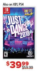 GameStop Black Friday: Just Dance 2018 (Switch/PS4/XBox One) for $39.99