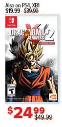 GameStop Black Friday: Dragonball Xenoverse 2 for $24.99