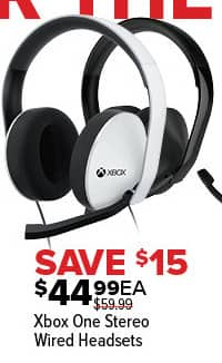 GameStop Black Friday: Xbox One Stereo Wired Headsets for $44.99