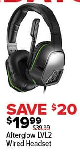GameStop Black Friday: Afterglow LVL2 Wired Headset for $19.99