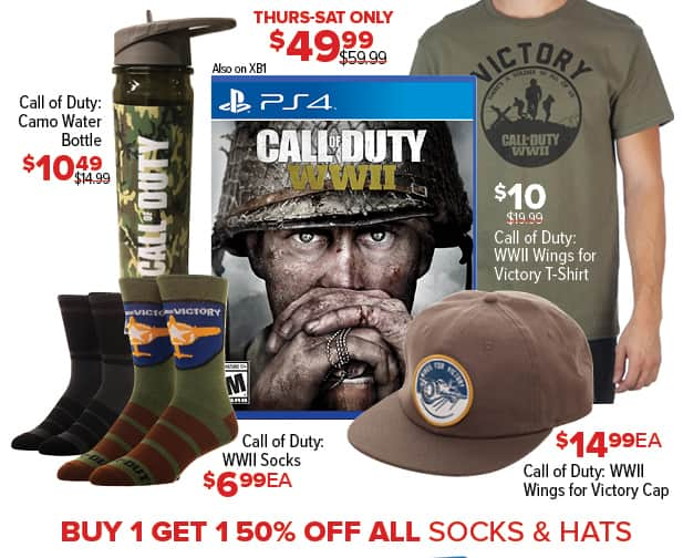 GameStop Black Friday: Call of Duty WWII Socks for $6.99