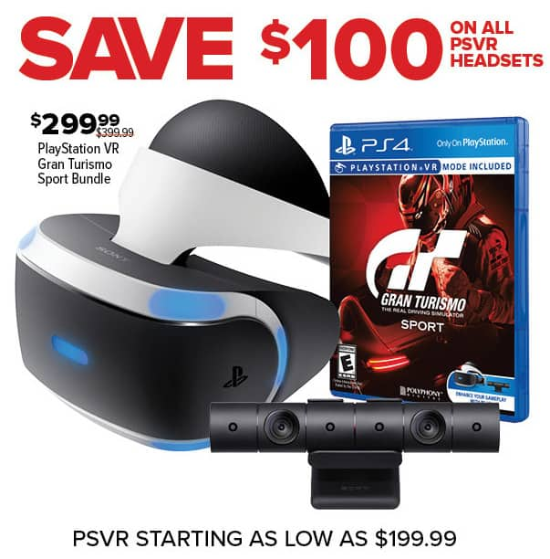 GameStop Black Friday: All PSVR Headsets - $100 Off