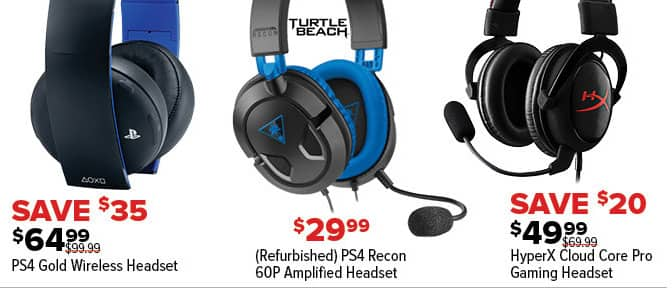GameStop Black Friday: PS4 Gold Wireless Headset for $64.99