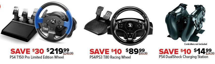GameStop Black Friday: PS4/PS3 T80 Racing Wheel for $89 99