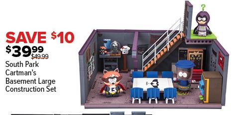 GameStop Black Friday: South Park Cartman's Basement Large Construction Set for $39.99