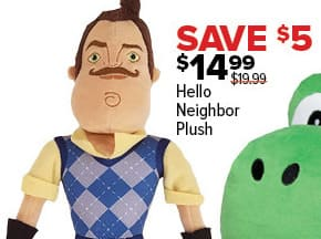 GameStop Black Friday: Hello Neighbor Plush for $14.99