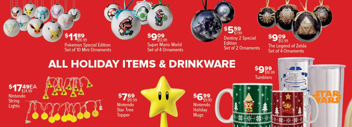 GameStop Black Friday: All Holiday Items and Drinkware - 30% Off